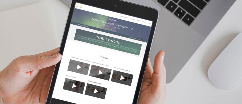 "Ecosistema Digitale Naos<br><h3 class=""subt"">Online Training & DAM Platform</h3> | SHOWREEL srl"